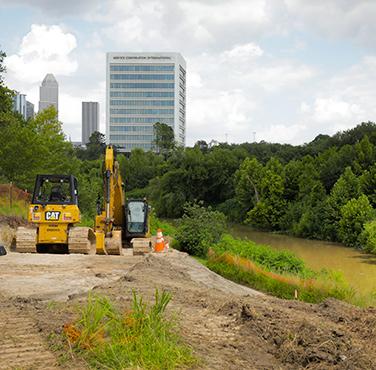Buffalo Bayou Park Houston repair